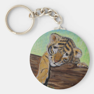 Sleepy Tiger cub Keychain