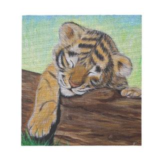 Sleepy Tiger cub Notepad
