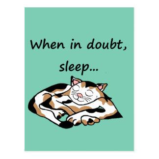 Sleepy Time Cat Postcard