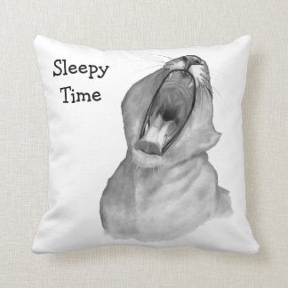 Sleepy Time: Gaping Yawn: Lion Mouth in Pencil Pillows