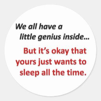 Sleepy Time Round Sticker