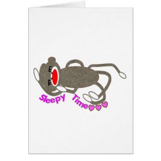 """""""Sleepy Time"""" Sock Monkey Sleeping Cards"""