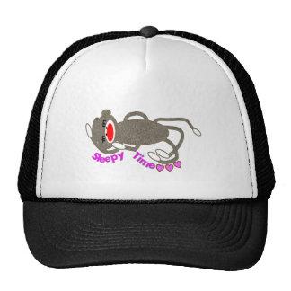 """""""Sleepy Time"""" Sock Monkey Sleeping Mesh Hat"""