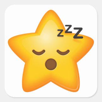 Sleepy Time Star Emoji Square Sticker