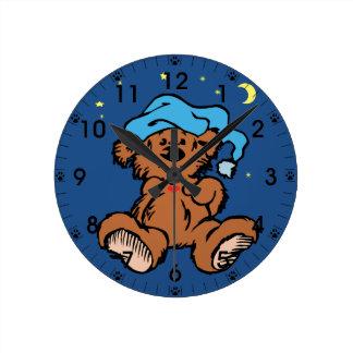 Sleepy Time Teddy Bear Clocks