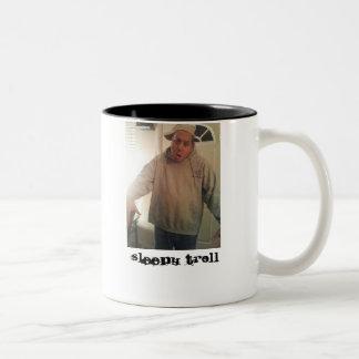 Sleepy Troll Two-Tone Mug