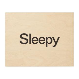 Sleepy Wood Canvas