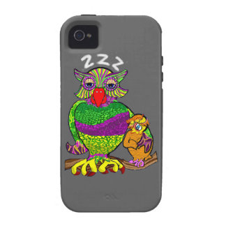Sleepytime Owl and Baby iPhone 4/4S Cases