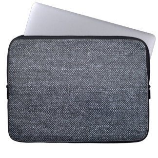 Sleeve: Gray Tweed Fabric Laptop Sleeve