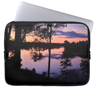 Sleeve: Twilight by the lake Laptop Sleeve