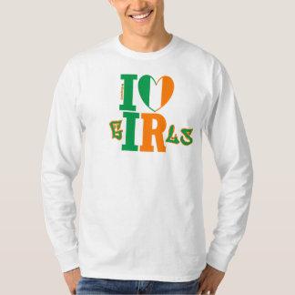 Sleeves as Long as She'll Smile - I ❤ Irish Girls T-Shirt
