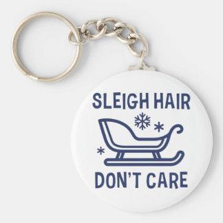 Sleigh Hair Don't Care Keychain