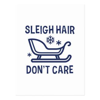 Sleigh Hair Don't Care Postcard