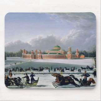 Sleigh Race at the Petrovsky Park in Moscow Mousepad