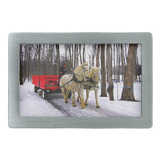 Sleigh Ride in the Snow Collection Belt Buckles