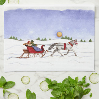 Sleigh Ride Kitchen Towel