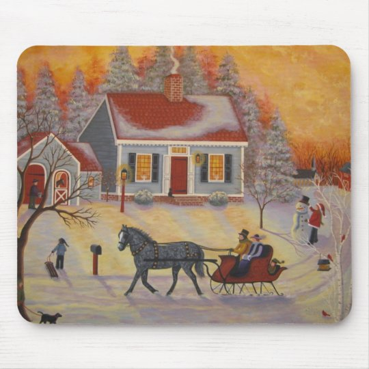 Sleigh Ride Mouse Pad
