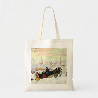 Sleigh Ride Painting Budget Tote Bag