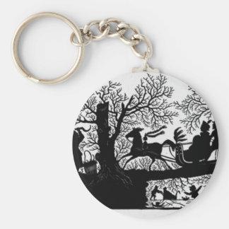 Sleigh_Ride_Silhouette Keychain