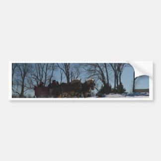 Sleigh ride Stowe Vermont Bumper Sticker