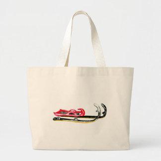 Sleigh Sport Watercolor Large Tote Bag