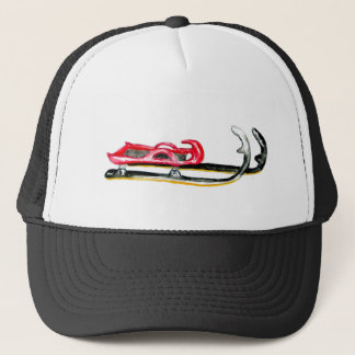 Sleigh Sport Watercolor Trucker Hat
