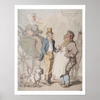 Slender Billy, Travellers taking refreshment (w/c Poster