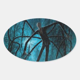 Slender Man Oval Sticker