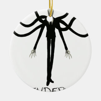 Slenderman Ceramic Ornament