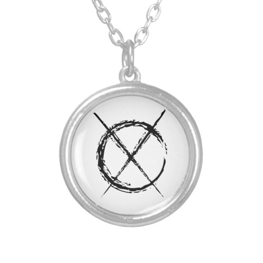Slenderman Silver Plated Necklace