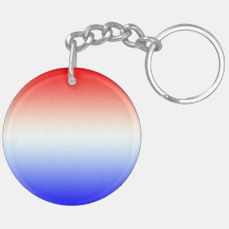 Sleutelhanger rood~wit~blauw Double-Sided round acrylic keychain