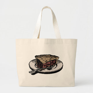 Slice of apple pie large tote bag