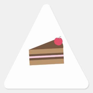 Slice Of Cake Triangle Sticker