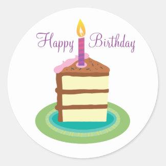 Slice of Chocolate Birthday Cake stickers