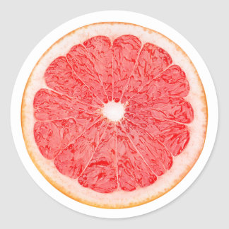 Slice of grapefruit round sticker