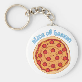 Slice Of Heaven Basic Round Button Keychain