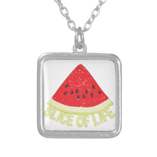 Slice Of Life Silver Plated Necklace