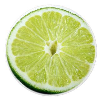Slice of Lime Kitchen Cabinet Knob