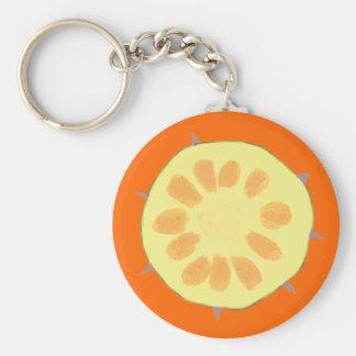Slice of Pineapple Fruit Keychains