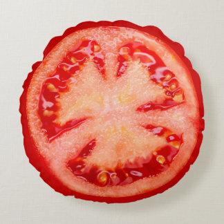 Slice Of Tomato Round Pillow
