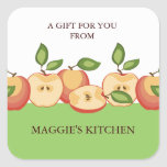 Sliced apples pies canning fruit lovers square stickers