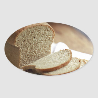Sliced Bread photo Oval Sticker