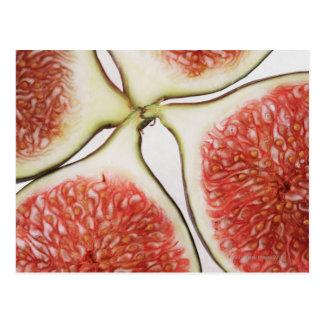 Sliced figs, close-up postcard