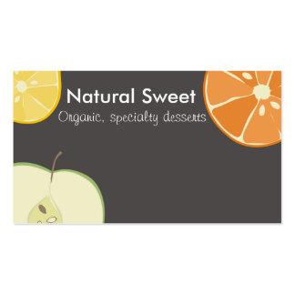 sliced fresh fruit baking bakery business cards