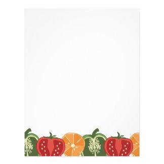 sliced fruit vegetable chef catering letterhead