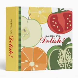 sliced fruit vegetable recipe cookbook binder