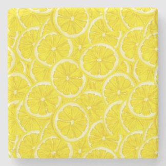 Sliced Lemon Pattern Stone Coaster