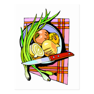 Sliced Onions and Potatoes Postcard
