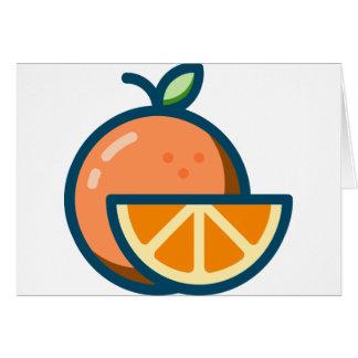 Sliced Orange Card
