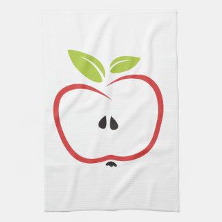 Sliced Red Apple Kitchen Towel
